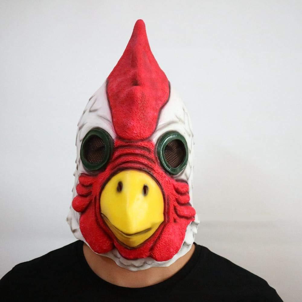Circlefly Cabeza de Gallo de Campana de la máscara de Halloween Máscara de látex Animal Peluca