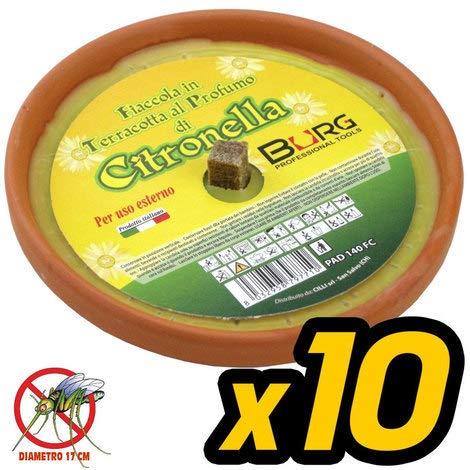 LGVSHOPPING 10er Pack Citronella Terracotta Durchmesser 17 cm Mü ckenschutz