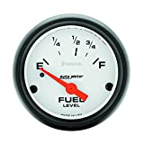 "Auto Meter 5715 Phantom 2-1/16"" 73 E/8-12 F Short Sweep Electric Fuel Level Gauge for Ford/Chrysler"
