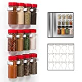 Magnetic Spice Rack Gripper Clips- Set of 12 Universal Spice Jar Clips - Easily Organize and Reorganize Dispensers- No Screws Needed