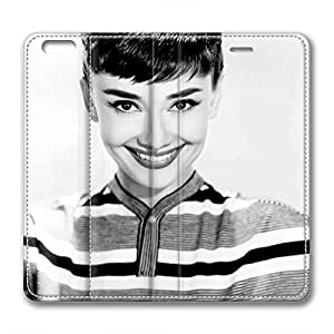 iPhone 6 Plus Soft High Quality PU Leather Case Easy To Clean Colored And Many Design Case Suit iPhone6 5.5 Inch Latest style Case Easy To Control Audrey Hepburn 130