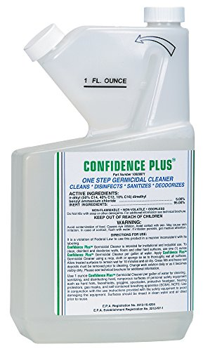 MSA 10009971 Confidence Plus Liquid Germicidal Cleaner, 32 oz. - Industrial Cleaner Germicidal