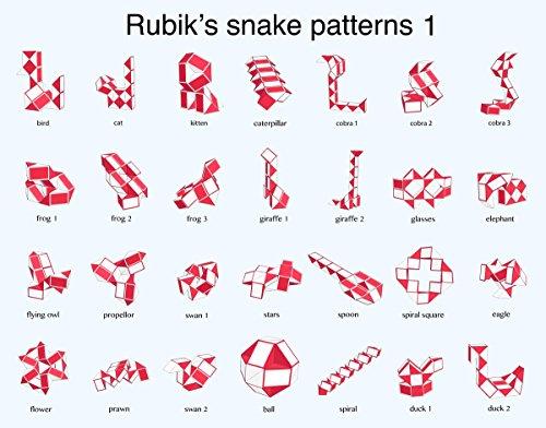 Amazon Rubik Snake 40 Wedges Rubic Snake Standard Rubix Snake Enchanting Rubik's Snake Patterns