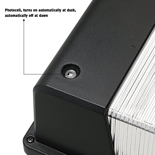 25W Dusk To Dawn LED Wall Pack Photocell Outdoor LED Wall Mount Light 250W