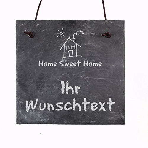 Cera & Toys Türschild - HOME SWEET HOME - mit eigenem Wunschtext