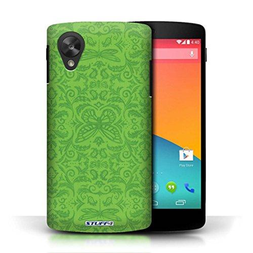 Etui / Coque pour LG Google Nexus 5/D821 / Vert conception / Collection de Motif médaillon