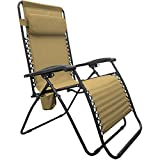 Caravan Sports BGC01151 Infinity Big Boy Zero Gravity Chair Lounge, Beige