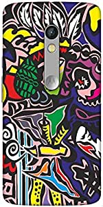 Snoogg The Abstract Pattern Designer Protective Back Case Cover For Motorola ...