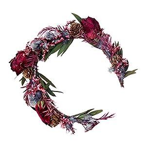 YAZILIND Mori Stylish Flower Wreath Wedding Bride Floral Crown Garland Bridesmaid Headdress Festivals Photo Props 6Pcs…