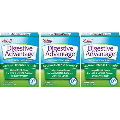 (Digestive Advantage Lactose Defense  formula, 32 Capsules (Pack of 3) )
