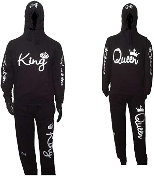 King Sweatsuit Outfit Black Hoodie and Sweatpants