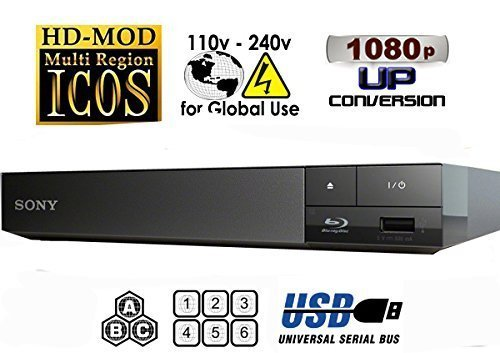 Sony Multi Zone Region Free Blu Ray Player - PAL/NTSC Playback - Zone A B C - Region 1 2 3 4 5 6 by Sony