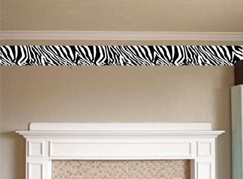 (Wall BORDER ZEBRA Decal Kids Room Den EDGING STICKER ANIMAL Skin SAFARI DECOR)