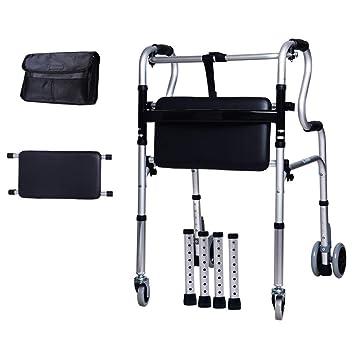 Walker con cuatro ruedas for personas mayores con asiento plegable ...