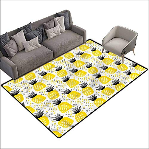- Kitchen Room Floor Mat Rug Colorful Exotic,Tropic Coastal Theme 80
