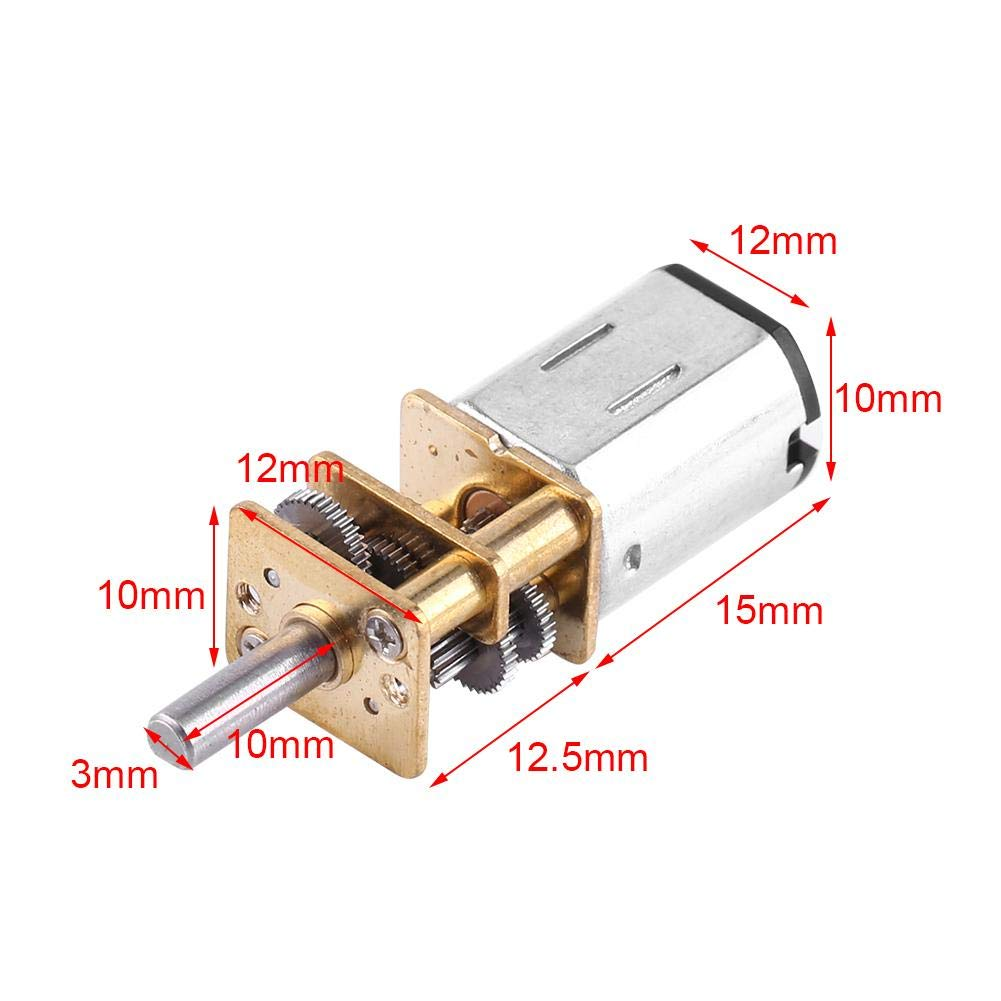 DC 6V Gear Box Electric Motor High Torque 1:1000 for Toy Car Model Reduction Gearbox 10//15//20RPM 15RPM
