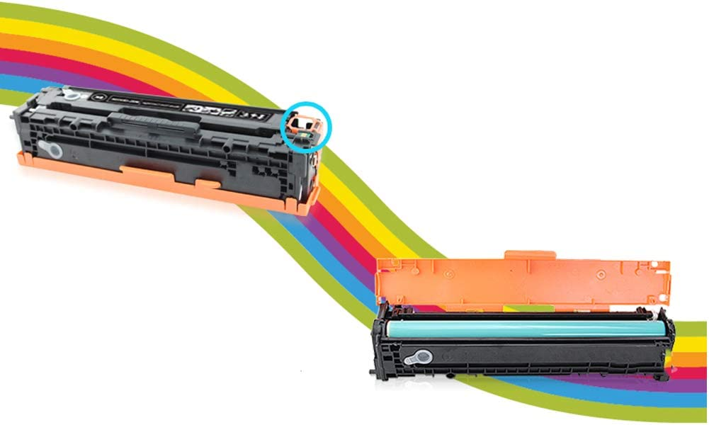 Compatible Toner Cartridges Replacement for HP 304A CC530A CC531A CC532A CC533A for HP Color Laserjet CM2320 Cp2020 2025 Printer with Chips-Combination