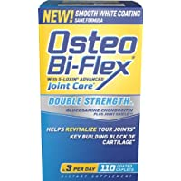 Osteo Bi Flex Glucosamine Chondroitin MSM, with 5-Loxin, Double Strength, Coated Caplets 110 ct (Pack of 1)