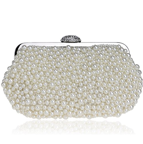 bag States Creamy SHISHANG embroidered pearl Ms the ZYXCC evening white Europe United bag bag evening shoulder dress and clutch Wr0ACfrnT
