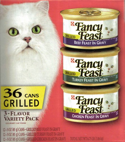 Fancy Feast 36 Cans 3-Flavor Variety Pack Cat Food: Beef Fea