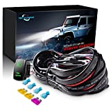 MICTUNING LED Light Bar Wiring Harness 40Amp Relay Laser Green On-Off Rocker Switch (Fog Lights)