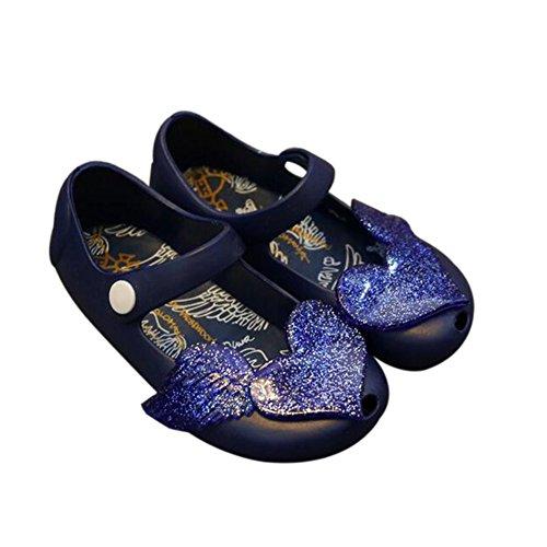 Hzjundasi Verano Niña Bebés Linda Antideslizante Suave Jalea Boca de pescado Casuales Zapatos Niñito Niños Playa Sandalias Lluvia Botas Azul