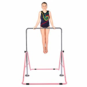 Safly Fun Gymnastics Bars Expandable Children's Training Monkey Folding Bars Climbing Tower Child Play Training Gym