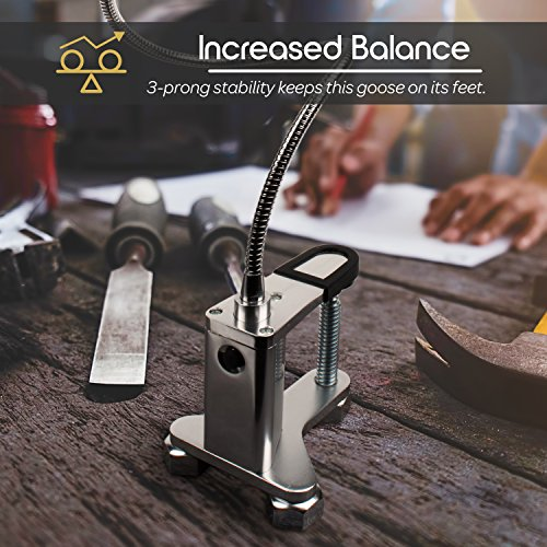 Livin-Well-Magnetic-LED-Clamp-Light-GooseLight-All-Purpose-Gooseneck-Lamp-Task-Light-and-Patio-BBQ-Grill-Light-w12-Powerful-LED-Lamp-Bulbs