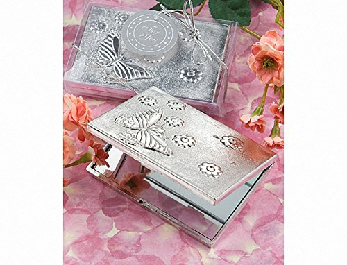 Collection Butterfly Mirror (Elegant Reflections Collection Butterfly Design Mirror Compact, 1 Piece)