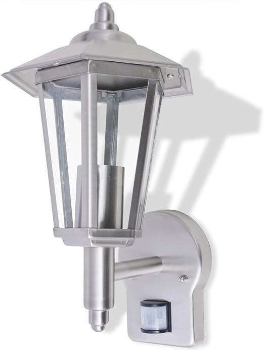 vidaXL Lámpara de Pared de Exterior con Sensor de Movimiento Farol de Jardín: Amazon.es: Iluminación