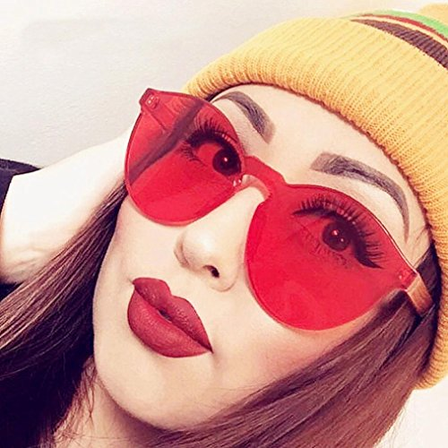 Redondas Fossen Rojo de Gafas Transparentes Coloridas Retros sol Mujer Gafas 1qqSRWwXr