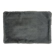DII Faux Fur, Silky Soft Pet Cage Liner for Kennels, Car Trips, Floors, Crates, Pet Bed or Crate Bed. Perfect For Dogs & Cats- Medium Gray