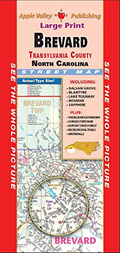 County Nc Maps Road - Brevard/Transylvania County NC Fold Map