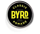 BYRD Classic Pomade - Firm Hold, Medium Sheen   Paraben Free, Sulfate Free, Phthalates Free   3oz