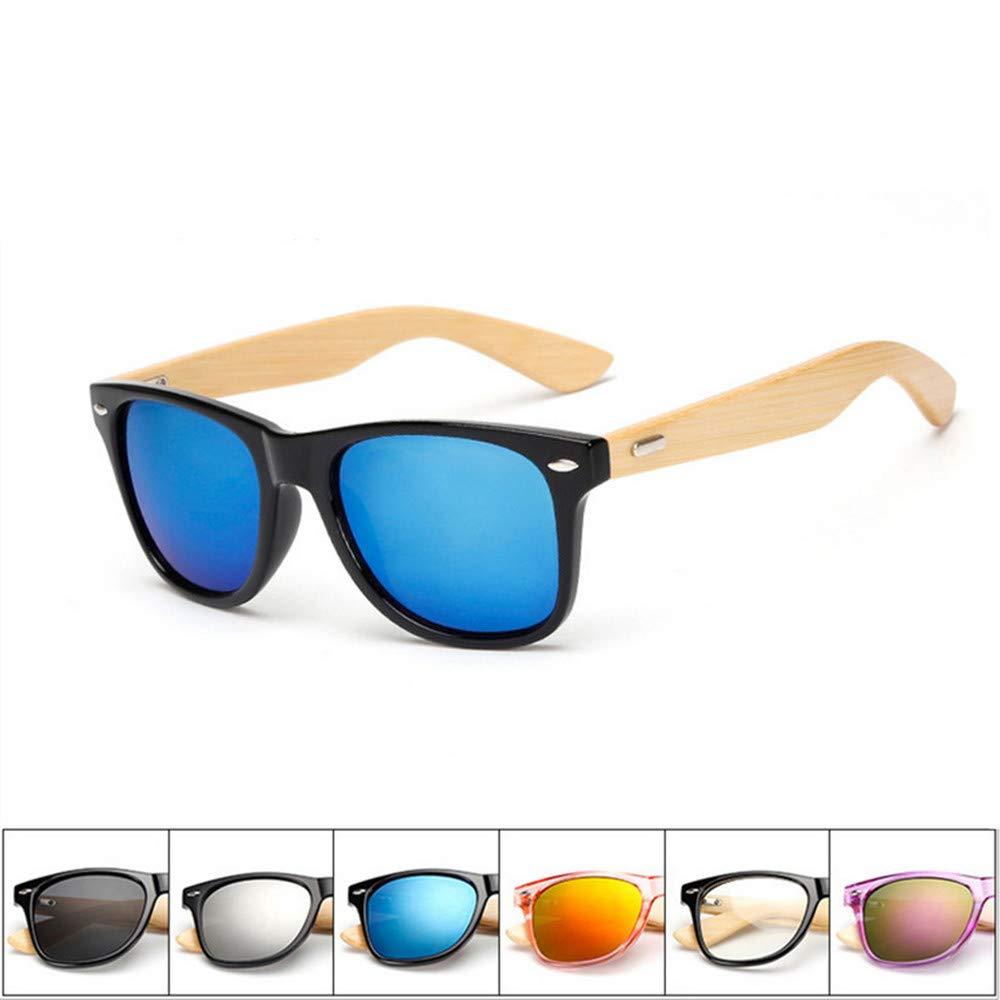 be2b8a10e8 Pausseo Bamboo Frame Sunglasses Wooden Mens Womens Retro Vintage Eyewear  Running Cycling Fishing Driving Safety Softball Hiking Sports Lightweight  Radiation ...
