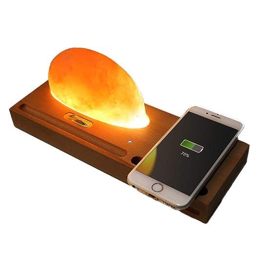 SLONG Cargador inalámbrico, lámpara de Sal certificación Qi ...