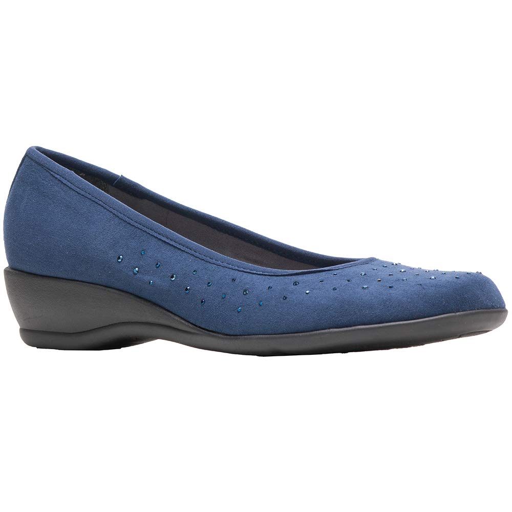 Soft Style by Hush Puppies Women's Rubi Pump, Navy Faux Suede, 12 M US