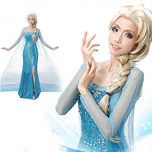 [Valley Wear Adult Woman's Frozen Elsa Costume Party Dress XXL] (Frozen Costumes Women)
