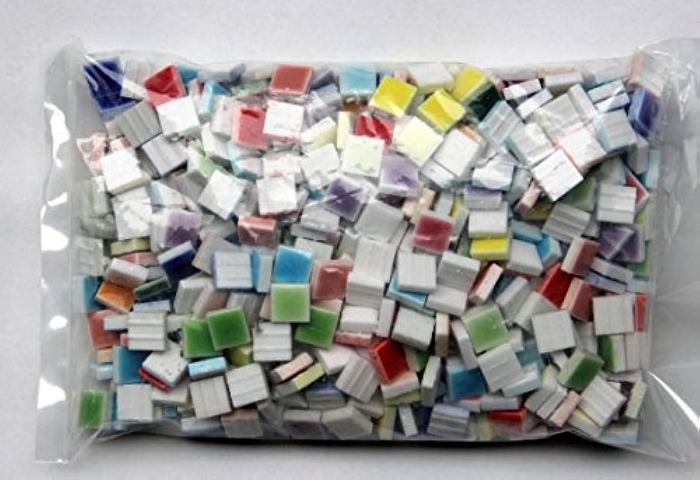 統治可能決して請願者ガラス タイル モザイク ばら 10mm角 9色 カラフル かわいい マルチカラー ミックス クラフト DIY ハンドメイド に (300g、約360個)