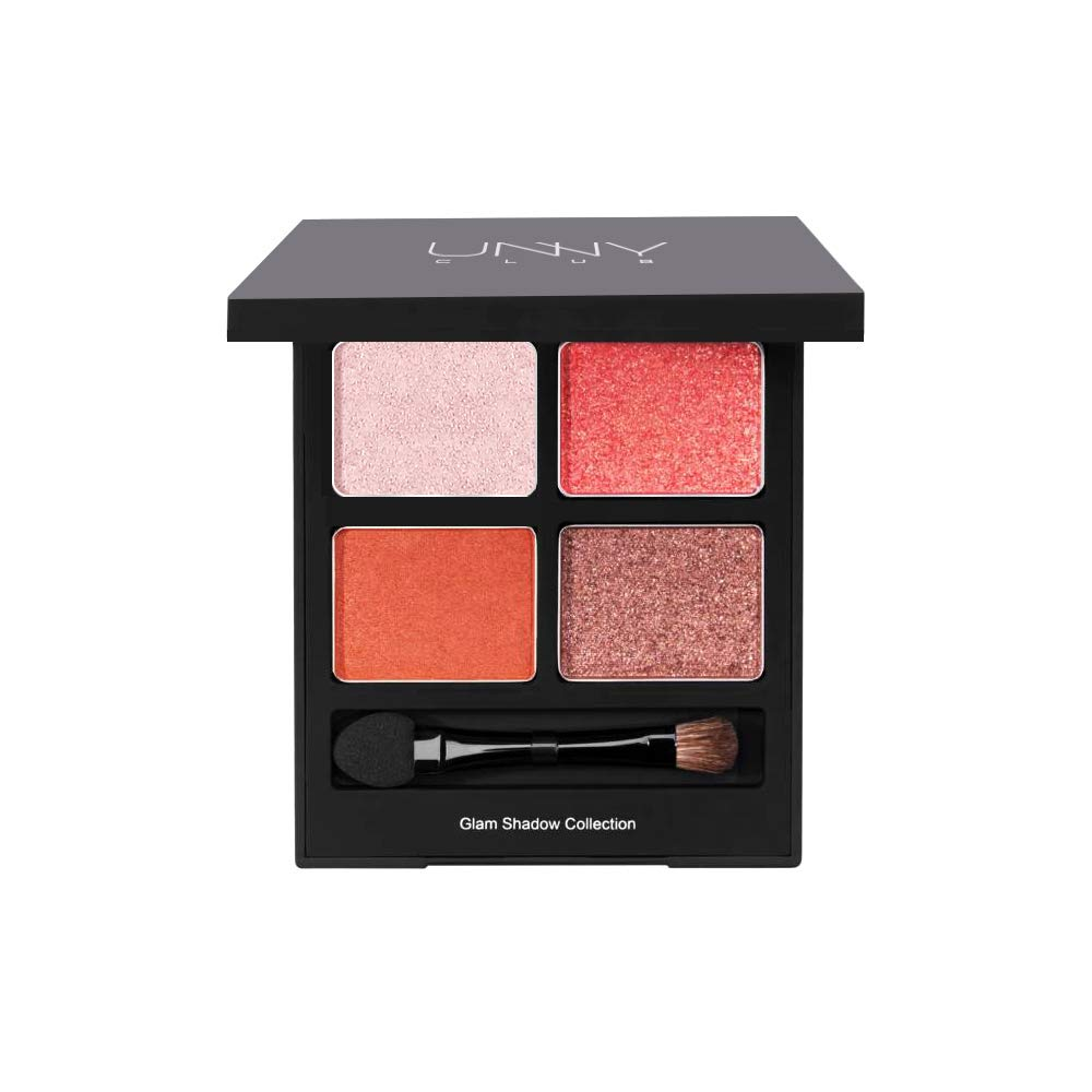 UNNY CLUB Glam Shadow Collection Daily to Accent Make Up 3 Oz / 8g, 4 Color Palette For Easy Simple to Create