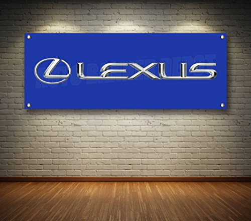 Lexus Dealer (LEXUS AUTO DEALER 1-SIDED BANNER SIGN 14oz VINYL -- MULTIPLE SIZES & STYLES (Blue, 36