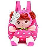 Swesy Kids Toddler Baby Girls Backpack Plush Toy Backpack Snack Bag Travel Bag