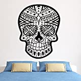 Boodecal Mexican Sugar Skull Hipster Wall Decals Stickers for Day of Dead Bedroom Lobby 22.8×29.4 Inches