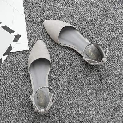 Pour Creux Bout Plates Creux Rond 39 Boucle Chaussures Souples Avec Gris Femmes À Bas Hrcxue Mot Femmes Pointues Et Sauvage xIaA6T