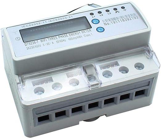 Compteur de Puissance de Consommation de Courant 16A Compteur de Consommation /Électrique Puissance Maximale 3680W Protection Contre Les Surcharges Compteur D/électricit/é avec /Écran LCD