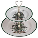 Spode Christmas Tree Double Tier Tray