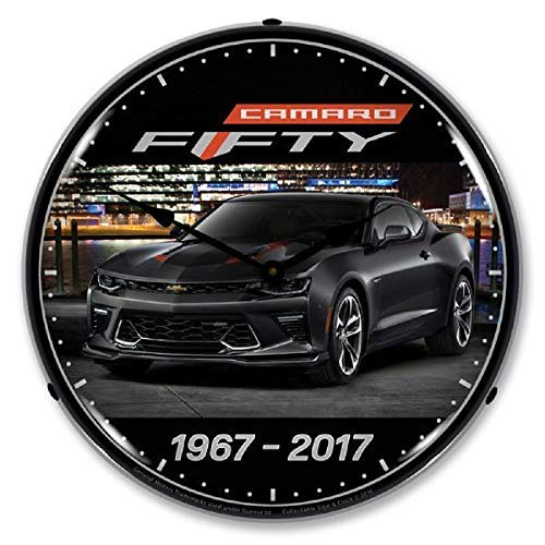 2017 Camaro Black 50th Anniversary 1967-2017 Chevrolet Muscle Car Wall Clock