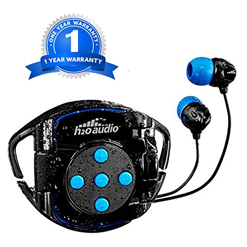 H2O Audio 100% Waterproof Headphones & Waterproof iPod Shuffle Case Swim Solution