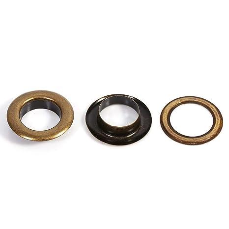 retro Akozon Ojetes Metalicos Ojetes y arandelas para Tarjeta de piel Craft Decoraci/ón 14mm 20sets