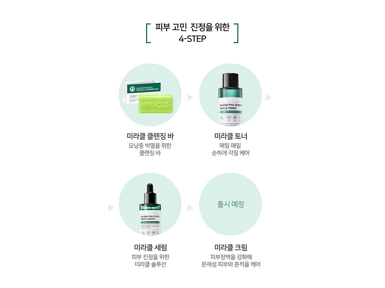 Somebymi Aha Bha Pha Miracle Set Anti Acne Exfoliation 30 Days Cleansing Bar 106g Some By Mi Me Hydration Brightening Toner Serum Beauty